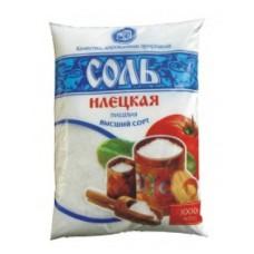 Соль поваренная пищевая молотая фасованная в полиэтиленовые пакеты по 1 кг